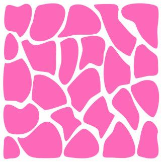 Teste padrão do impressão do girafa no rosa brilha escultura foto