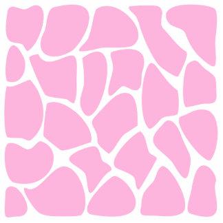 Teste padrão do impressão do girafa no rosa dos do fotoesculturas
