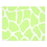 Teste padrão do impressão do girafa no verde de li modelo de panfletos