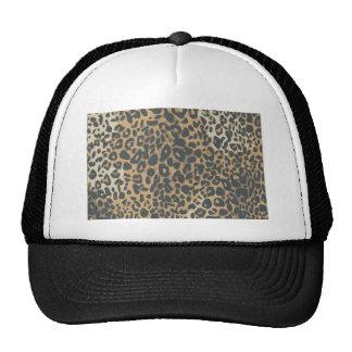 teste padrão do impressão do leopardo boné