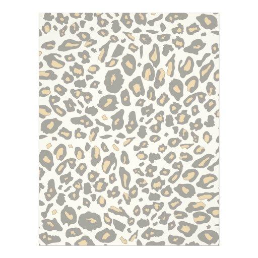 Teste padrão do impressão do leopardo papel timbrado
