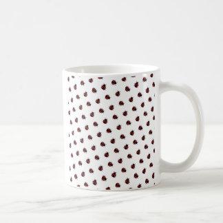 Teste padrão do joaninha caneca de café