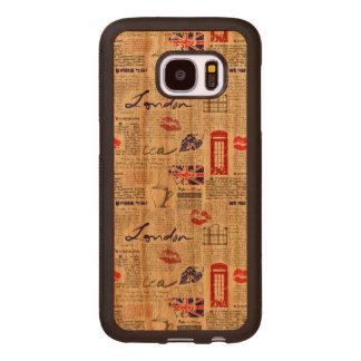 Teste padrão do jornal de Londres Capa De Madeira Para Samsung Galaxy S7