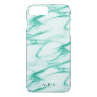 Teste padrão do mármore do alabastro de turquesa capa iPhone 7 plus