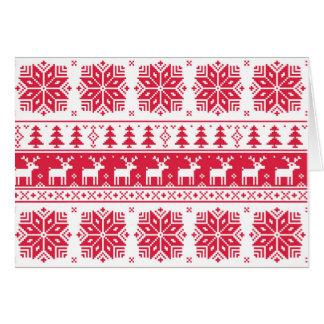 Teste padrão do Natal de Pixelated, cartão