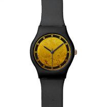Teste padrão do OURO/folha de ouro PUROS Relógio De Pulso