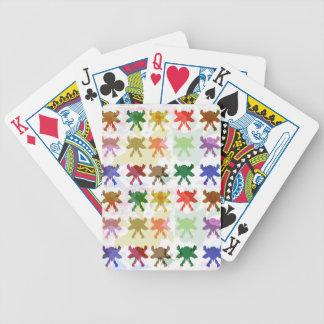Teste padrão do papagaio da borboleta baralhos para poker