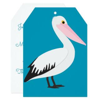 Teste padrão do pelicano convite 12.7 x 17.78cm