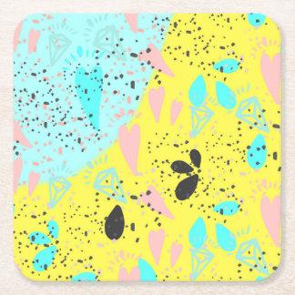 Teste padrão do pop art dos Pastels dos doces Porta-copo De Papel Quadrado