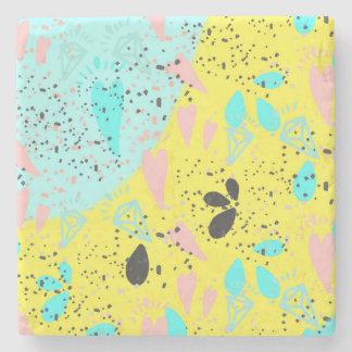 Teste padrão do pop art dos Pastels dos doces Porta-copos De Pedra