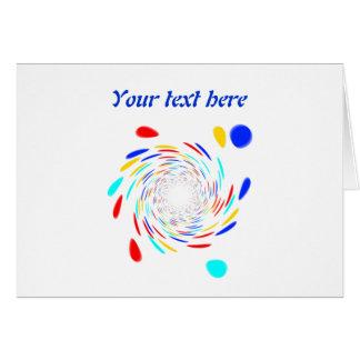 Teste padrão do redemoinho de Colorfull Cartão Comemorativo