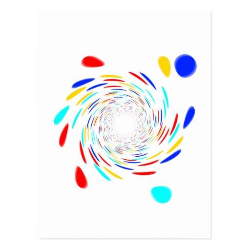 Teste padrão do redemoinho de Colorfull Cartão Postal