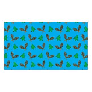 Teste padrão do sapato de neve dos azul-céu cartão de visita