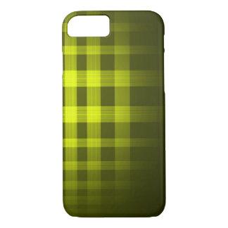 Teste padrão do Tartan do fantasma do ouro Capa iPhone 7