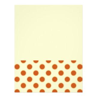 Teste padrão do tarte de abóbora panfletos personalizados