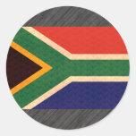 Teste padrão do vintage sul - bandeira africana adesivo em formato redondo