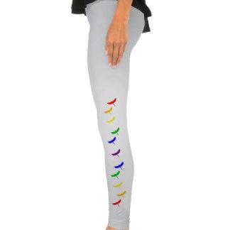 Teste padrão do vôo da libélula do arco-íris calça apertada