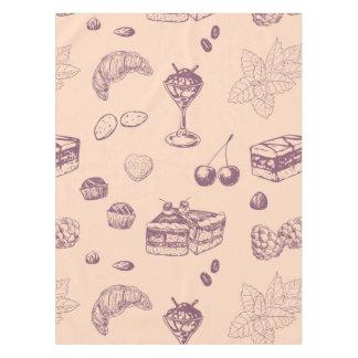 Teste padrão doce com várias sobremesas toalha de mesa