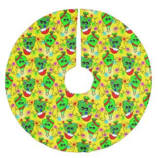 Teste padrão doce da árvore de Natal de Kawaii Saia Para Árvore De Natal De Poliéster