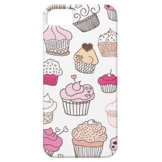 Teste padrão doce do bolo dos doces do cupcake capa barely there para iPhone 5