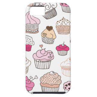 Teste padrão doce do bolo dos doces do cupcake capa tough para iPhone 5