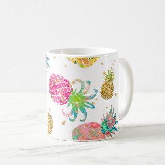 Teste padrão dos abacaxis de PixDezines Aloha Caneca De Café