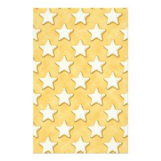 Teste padrão dos biscoitos da estrela. Amarelo do  Modelos De Panfleto