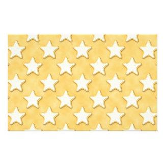 Teste padrão dos biscoitos da estrela. Amarelo do  Panfleto
