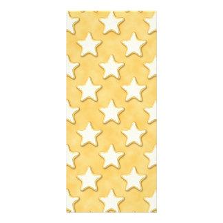 Teste padrão dos biscoitos da estrela. Amarelo do  10.16 X 22.86cm Panfleto