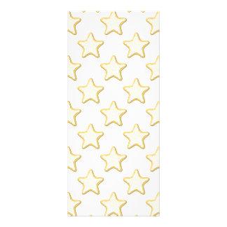 Teste padrão dos biscoitos da estrela. No branco 10.16 X 22.86cm Panfleto