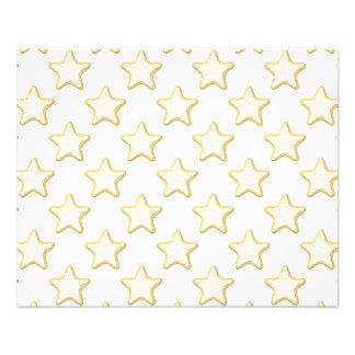 Teste padrão dos biscoitos da estrela. No branco Panfleto Coloridos