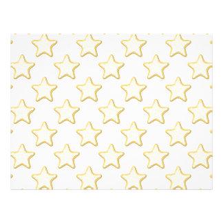 Teste padrão dos biscoitos da estrela. No branco Panfletos