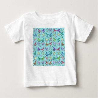 Teste padrão dos brinquedos camiseta para bebê