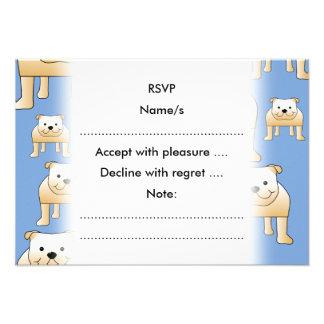 Teste padrão dos cães Buldogues da jovem corça no Convites