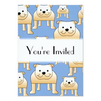 Teste padrão dos cães. Buldogues da jovem corça no Convite 12.7 X 17.78cm