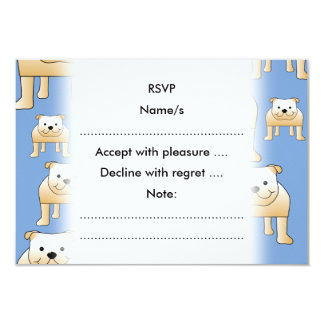 Teste padrão dos cães. Buldogues da jovem corça no Convite 8.89 X 12.7cm