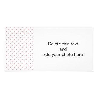 Teste padrão dos corações do brilho do rosa cartão com foto
