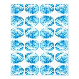 Teste padrão dos escudos no azul brilhante panfletos