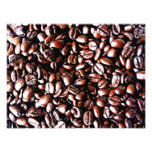 Teste padrão dos feijões de café - assado escuro arte de fotos