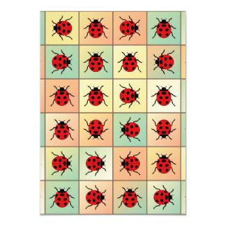 Teste padrão dos joaninhas convite 12.7 x 17.78cm