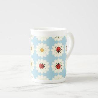 Teste padrão dos joaninhas xícara de chá
