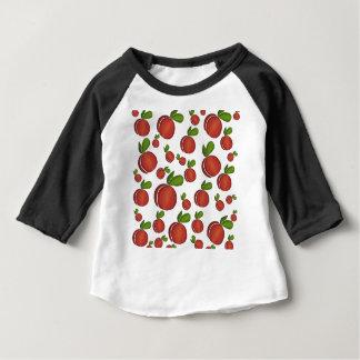 Teste padrão dos pêssegos camiseta para bebê