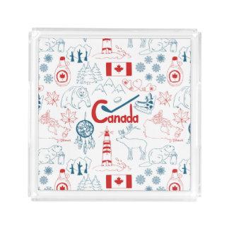 Teste padrão dos símbolos de Canadá   Bandeja De Acrílico