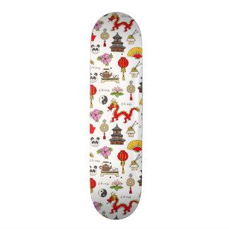 Teste padrão dos símbolos de China Shape De Skate 21,6cm