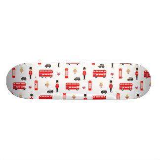 Teste padrão dos símbolos de Inglaterra Shape De Skate 20,6cm