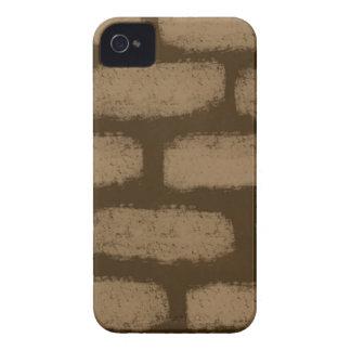 Teste padrão dos tijolos de Brown Capinhas iPhone 4