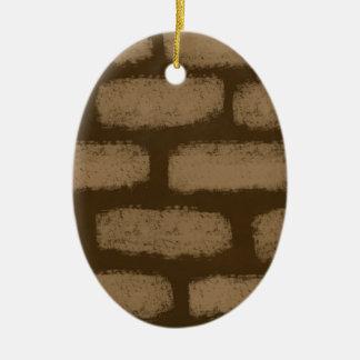 Teste padrão dos tijolos de Brown Ornamento De Cerâmica
