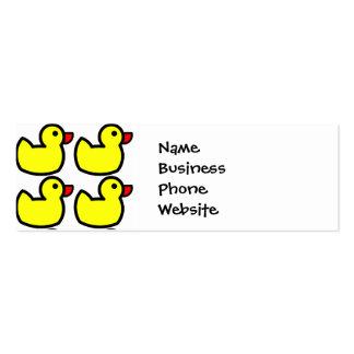 Teste padrão Ducky de borracha amarelo brilhante Cartão De Visita Skinny
