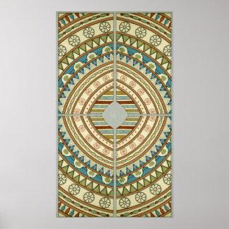Teste padrão egípcio antigo pôster