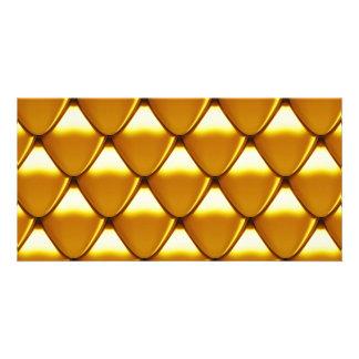 Teste padrão elegante da escala do ouro cartão